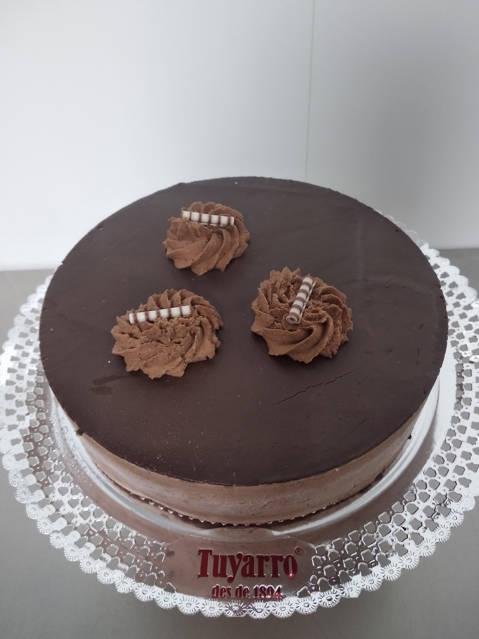 Pastel semifrío chocolate