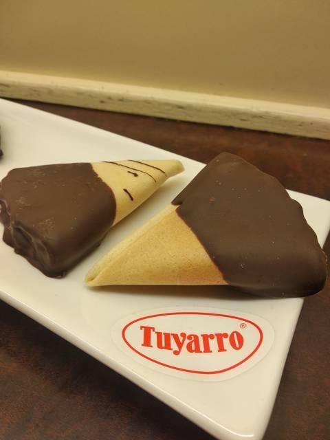 Abanicos con chocolate